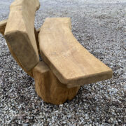 1.5m Banana solid oak bench