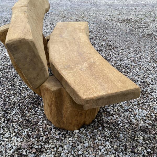 Solid oak garden bench 1.5m