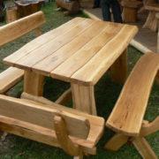 Garden furniture 1.5m rustic oak table set