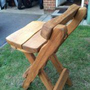 Rustic company log bench variation side