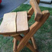 Rustic company log bench variation