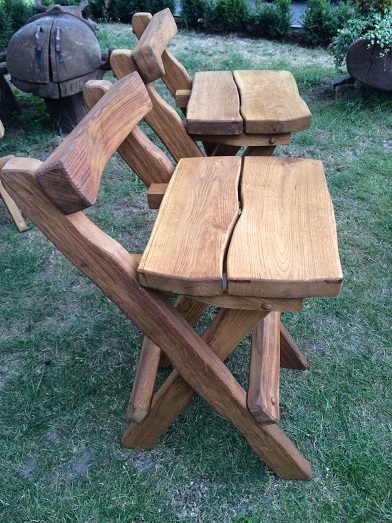 Rustic company log bench variation double
