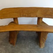 Rustic company log bench dark