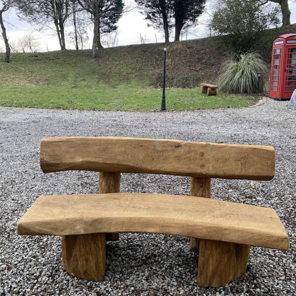 1.5m BANANA bench for sale. Made from solid oak