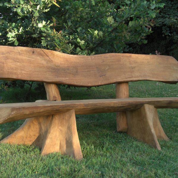 Rustic company banana wood bench