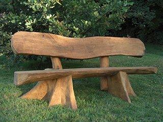 unique wooden bench