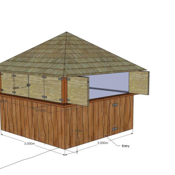 Beach Bar Summer House plans shutters
