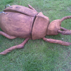 Rustic company wooden bug sculpture 3