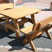 1metre solid oak table set for garden patio an outdoor