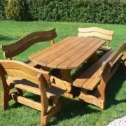 Garden solid oak table