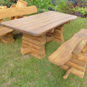 Rustic company log table set 2