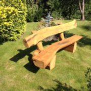 rustic oak bench