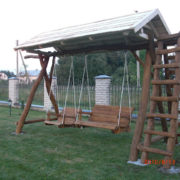 Rustic company wooden swing extra