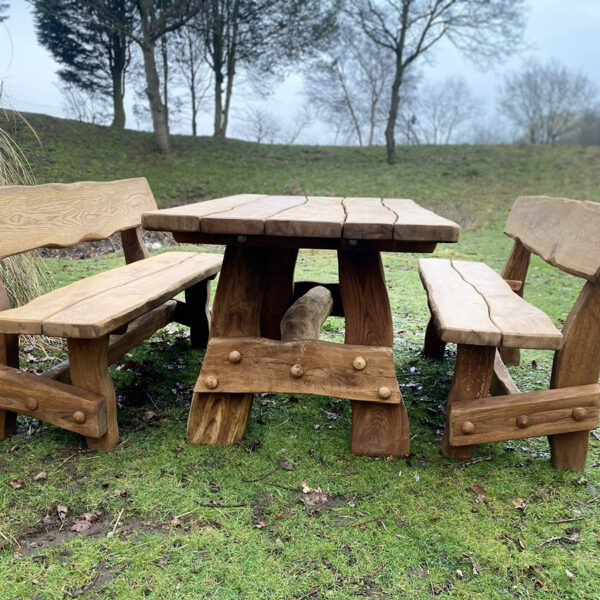 oak table set for the garden for sale