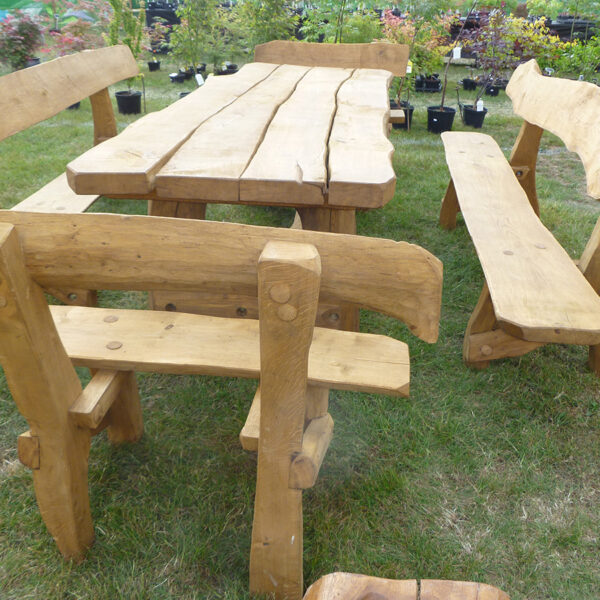 table set made from oak