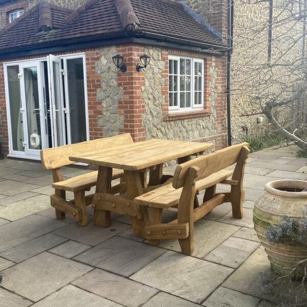 solid oak table set