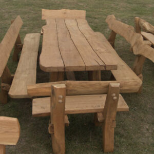 Rystic company log table 4 piece set side view