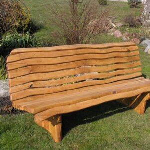 Rustic company Vingis park bench