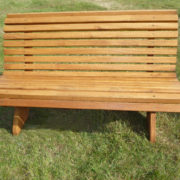 Rustic company park bench