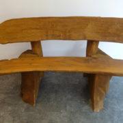 Rustic company log bench