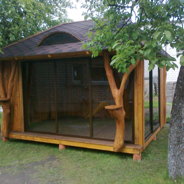 Summer House with Glass Doors