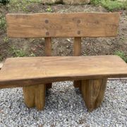 1m solid oak bench