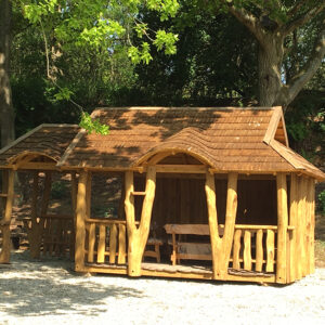Oak Gazebo with BBQ area