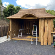 Rustic Garden Structure with glass