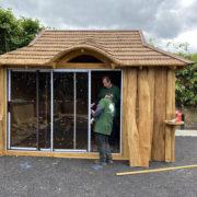 Summerhouse with glass door