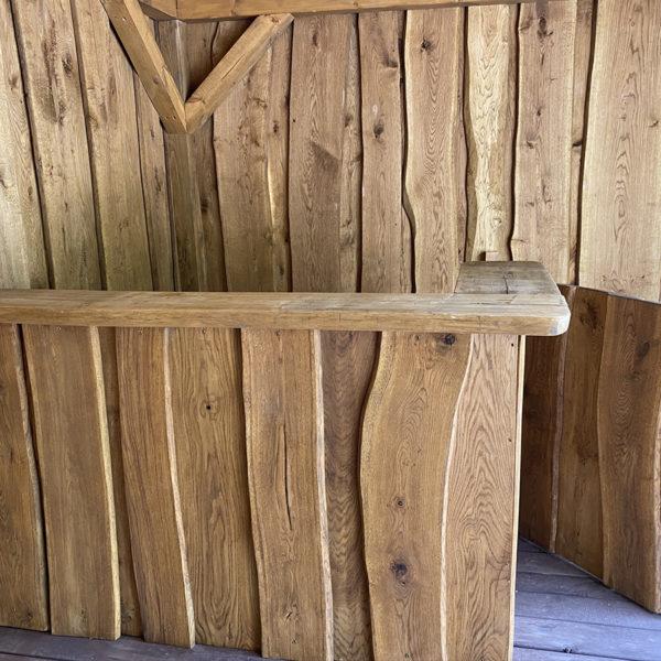Bespoke bar featuring sliding glass doors