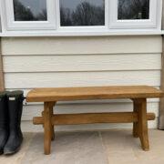 1m oak bench for cottage