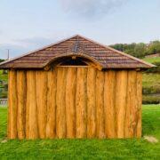 back solid oak wall