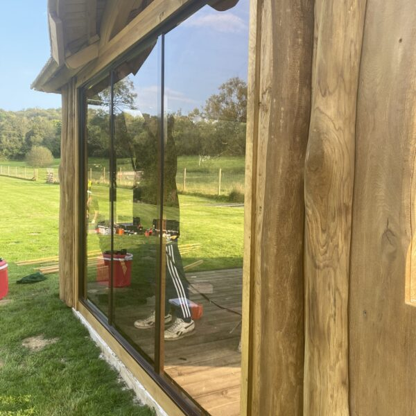 DEVON summerhouse with glass sliding doors