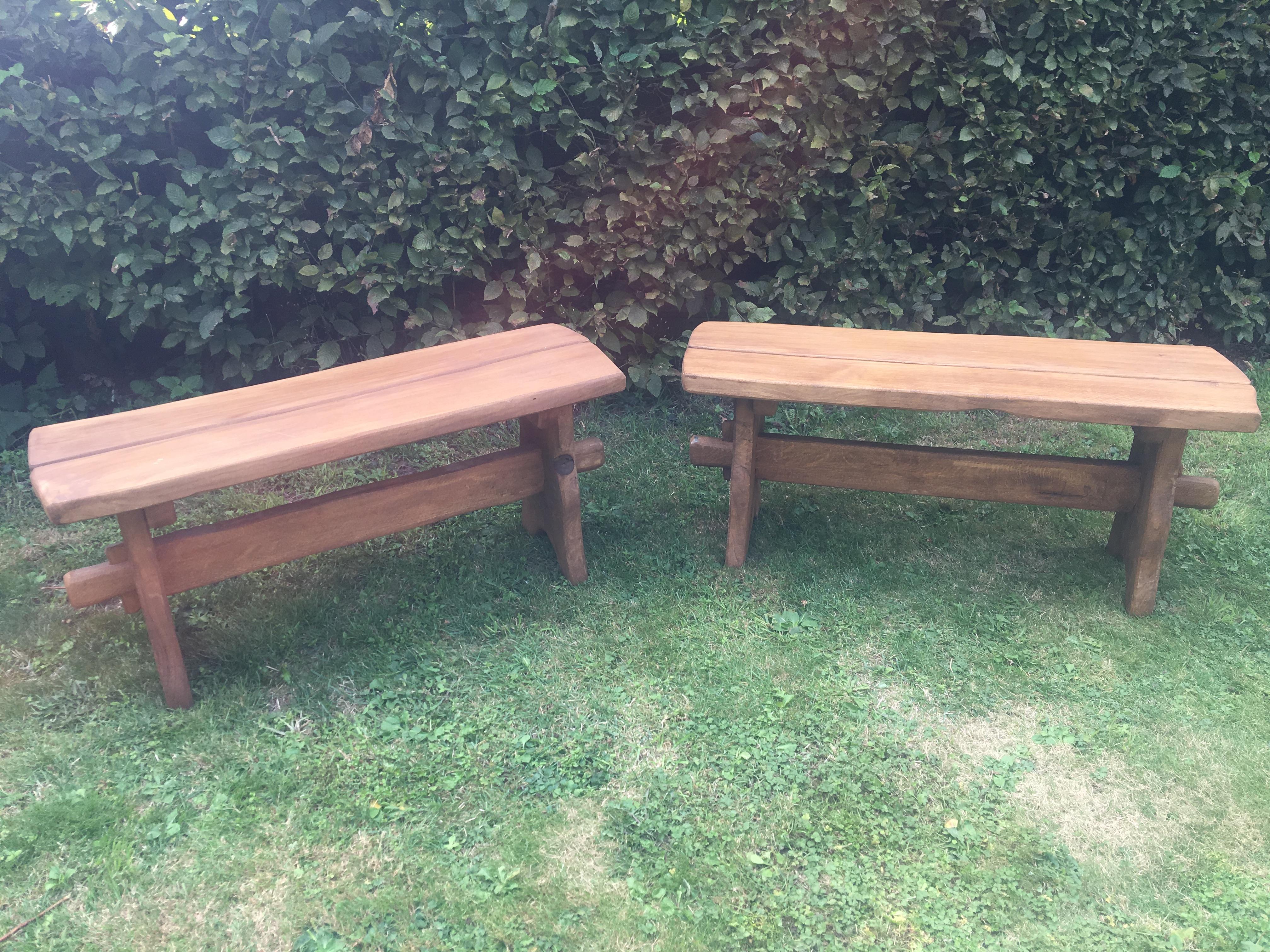 Picnic oak bench