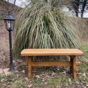 1m picnic oak bench
