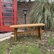 picnic solid oak bench