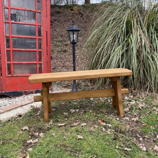 1m oak garden bench picnic
