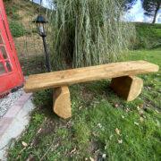 garden bench made from oak