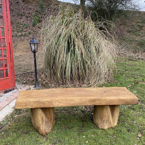 wooden bench made form oak